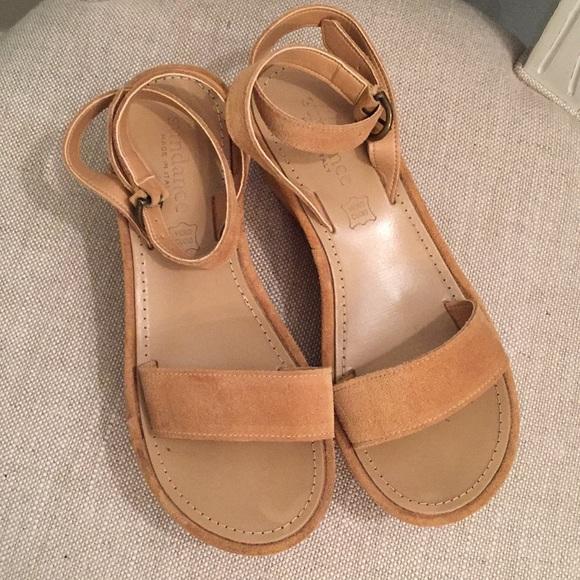 Sundance Suede Platform Sandals